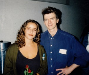 Mikala and Neil Finn from Crowded House, 1991