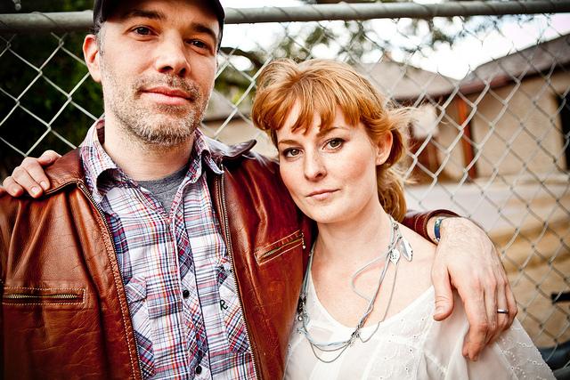 Buck65 and Jenn Grant at SXSW 2011, pic by Kris Krüg