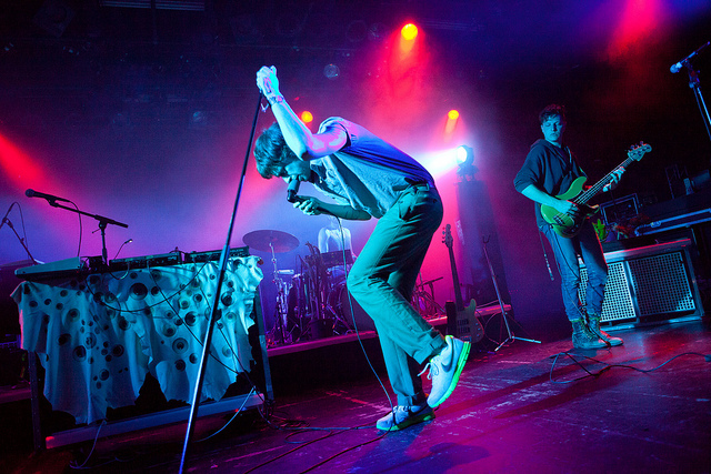 Chris and Ira, Yeasayer, pic by Kris Krüg