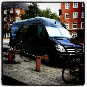 Sebadoh van, pic by Mikala Taylor/backstagerider.com