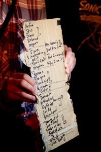 Sebadoh setlist, pic by Mikala Taylor/backstagerider.com