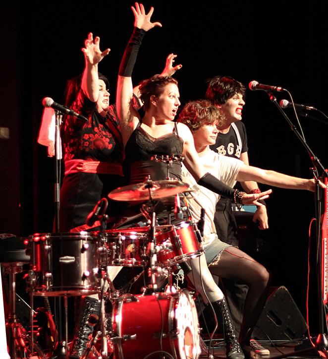 Die Roten Punkte, Amanda Palmer, Chad Raines - pic Mikala Taylor