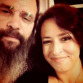 Steve Earle and Mikala/BackstageRider