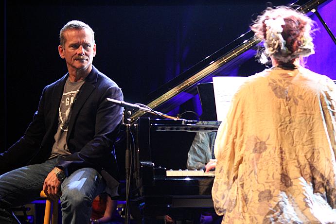 Chris Hadfield and Amanda Palmer, photo by Mikala Folb